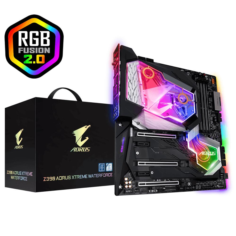 Gigabyte Z390 AORUS XTREME WATERFORCE, 4xDDR4 2666, PCI-E 3.0 x16, HDMI, USB-C