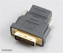 AKASA AK-CBHD03-BKV2 DVI Male to HDMI Femaleadapter with gold plated contacts
