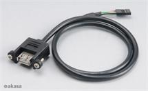 AKASA AK-CBUB06-60BK Internal to External USB cable adapter for the DIY enthusiast