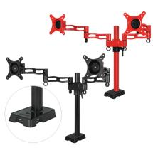 ARCTIC Z2 red - dual monitor arm with USB Hub integrated (red color)
