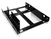 Icy Box Internal Mounting frame 3,5 '' for 2x 2.5'', Black