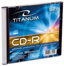 Titanum CD-R [ slim jewel case 1 | 700MB | 52x ] - kartón 500 ks