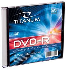 Titanum DVD-R [ slim jewel case 1 | 4.7GB | 8x ] - kartón 200 ks