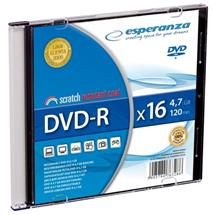 Esperanza DVD-R [ slim jewel case 1 | 4.7GB | 16x ] - kartón 200 ks