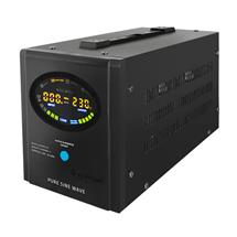 Qoltec Inverter/ Emergency power supply Pure Sine Wave 700W 1000VA LCD black