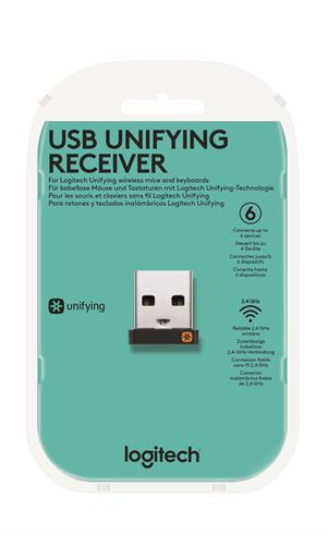 Logitech USB Unifying Receiver-USB-EMEA-CLAMSHELL