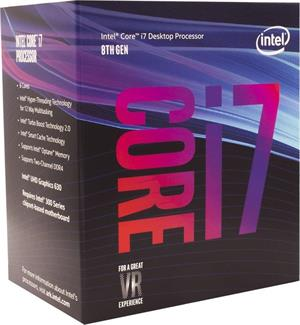 Intel Core i7-8700K, Hexa Core, 3.70GHz, 12MB, LGA1151, 14nm, BOX