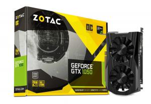 ZOTAC GeForce GTX 1050 OC, 2GB GDDR5 (128 Bit), HDMI, DVI, DP