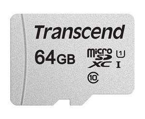 Transcend pamäťová karta microSDXC USD300S 64GB CL10 UHS-I U1 Up to 95MB/S