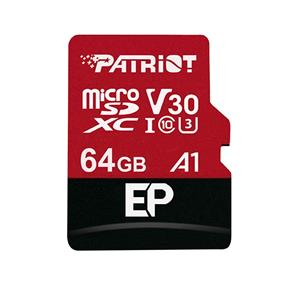 Patriot EP Series 64GB MICRO SDXC V30, up to 100MB/s