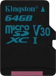 Kingston 64GB microSD Class Canvas Go U3 UHS-I 90/45 (čítanie/zápis)