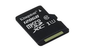Kingston 128GB microSDXC karta Canvas Select 80R CL10 UHS-I bez adaptéra