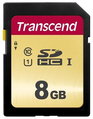 Transcend pam.karta SDHC SDC500S 8GB CL10 UHS-I U1 Up to 95MB/S