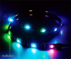 "AKASA AK-LD07-60RB Akasa ""Vegas MBA"" Magnetic ADDRESSABLE RGB LED strip light , (ASUS Aura, Gigabyte Fusion Cert.)"