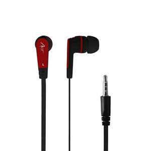 ART earbuds headphones with microphone S2c black-red smartphone/MP3/tablet