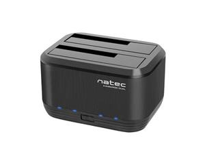 Natec Docking Station KANGAROO DUAL 2.5''/3.5'' HDD USB 3.0 + AC adapter