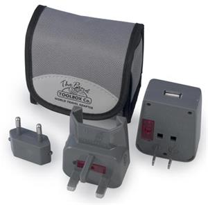 PINKTOOLBOX The Grey World Travel Adapter