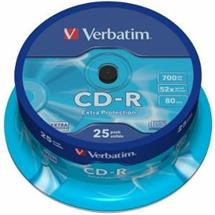 CD-R Verbatim [ cakebox 25 | 700MB | 52x | DataLife ]