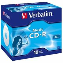 CD-R Audio Verbatim [ jewel case 10 | 80min | 4x | Live it! ]