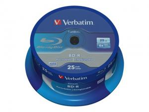 Verbatim Blu-ray BD-R DataLife [ Spindle 25 | 25GB | 6x | WHITE BLUE SURFACE ]