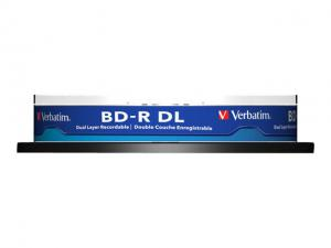 Verbatim Blu-ray BD-R DL [ Spindle 10 | 50GB | 6x |WHITE BLUE SURFACE HARD COAT]