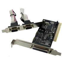 4World radič 2x Serial Port RS232 + 1x Parallel Port na PCI