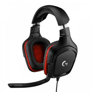 Logitech Gaming Headset G332 Symmetra - Black/Red - 3.5 MM, Leatherette