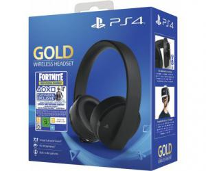PS4 Gold Wireless 7.1 Gaming Headset + Fortnite