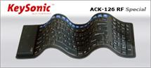 Keysonic ACK-126RF US Rubber Compact Keyboard