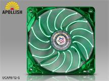 ENERMAX UCAP8-G 80mm LED green Apollish fan