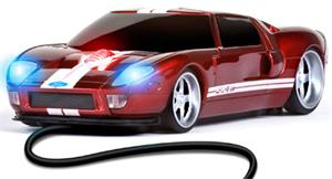 ROADMICE Wired Mouse - Ford GT (Red/White) Wired
