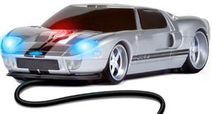 ROADMICE Wired Mouse - Ford GT (Silver/Black) Wired