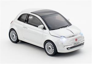 CLICK CAR MOUSE Fiat 500 new white (2,4GHz Wireless)