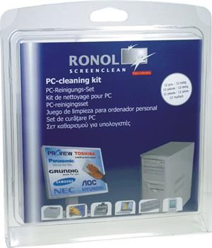 RONOL PC-Cleaning-Kit 125ml TFT/LCD/Screen cleaner, 125ml Plastic cleaner + 10 cleaning tissues (10090)