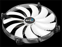 Ventilátor AEROCOOL Silent Master 200 mm White LED fan