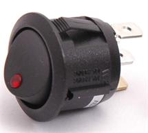 PRIMECOOLER LED Rocker Switch Round Red