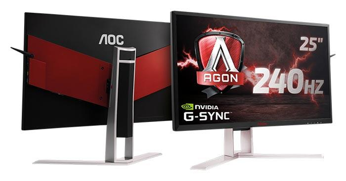 Monitor AOC AG251FG 25inch, TN, 1920x1080, 240Hz, 1ms, HDMI, USB, DP