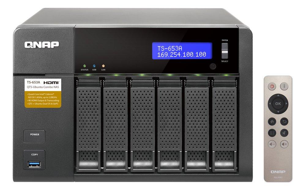 QNAP TS-653A-8G TWR 6x 2 5/3 5 SATA N3150 2 0 QC 8GB DDR3L 4xGigaLan
