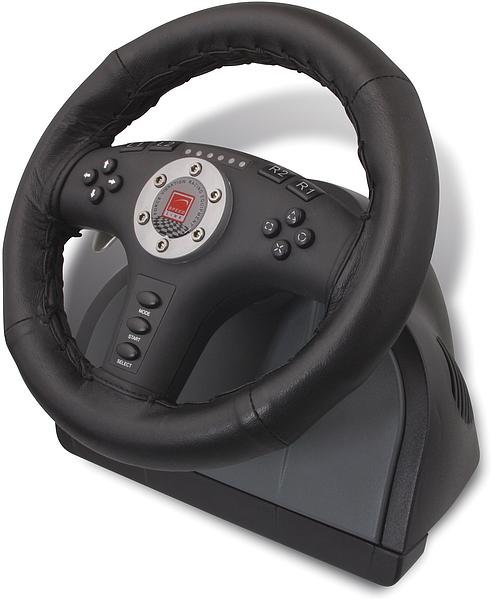 speedlink sl 6693 racing wheel 2 in 1 leather force vibration pro pc i ps2. Black Bedroom Furniture Sets. Home Design Ideas